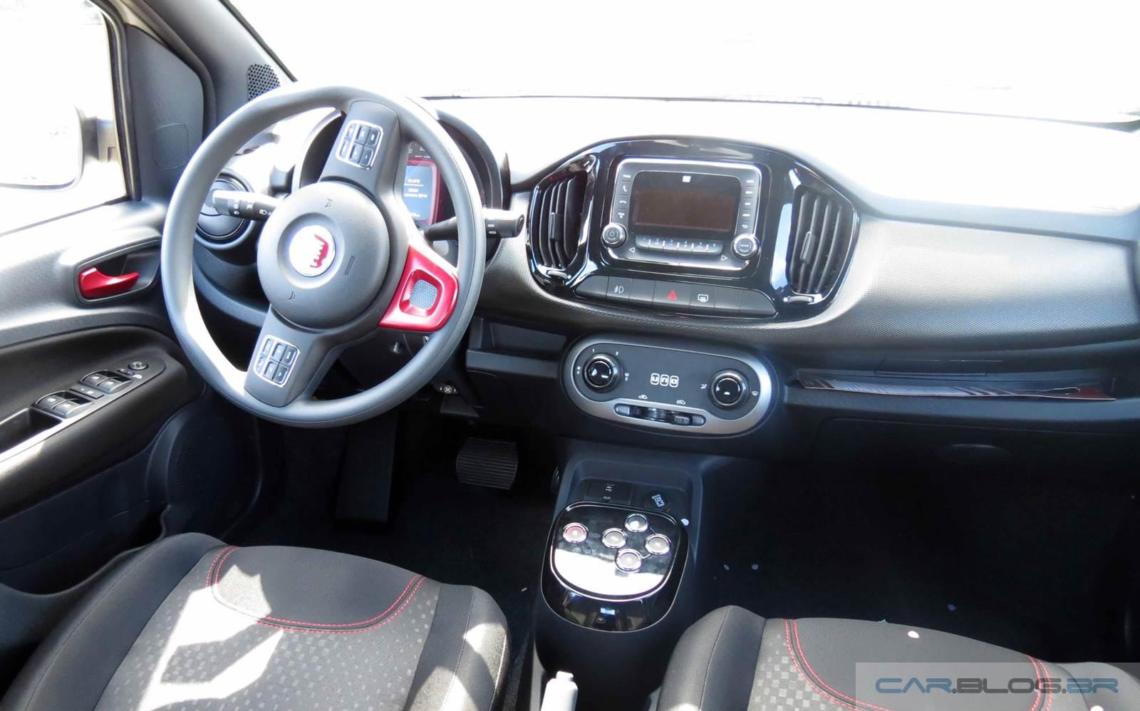 Novo Fiat Uno 1.4 Sporting 2015 - preço - interior