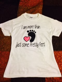 Get your I Am More Than Just Some Pretty Feet Tee's Here!