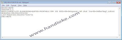 Open VNT File Dengan Notepad