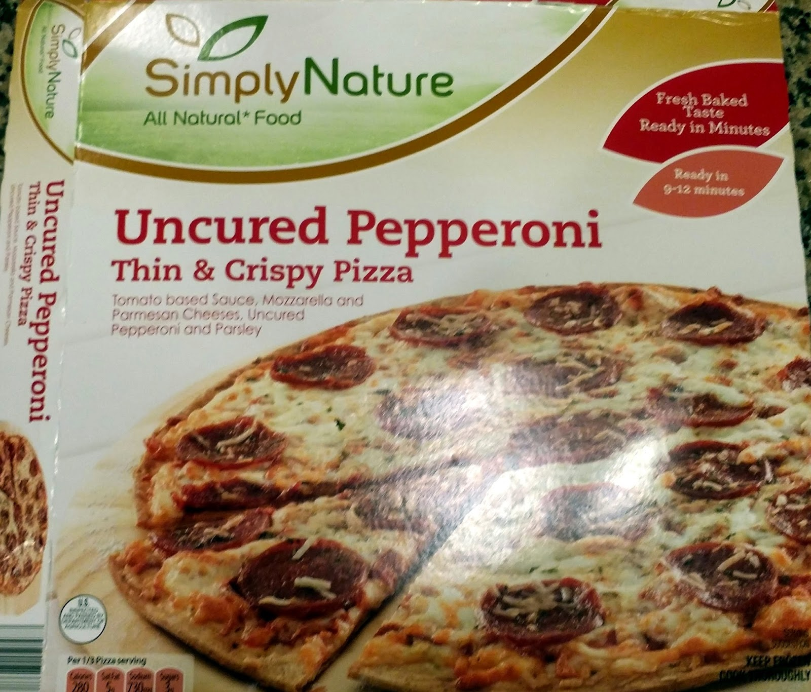 Pizza Quixote: Review: SimplyNature Uncured Pepperoni Thin & Crispy ...