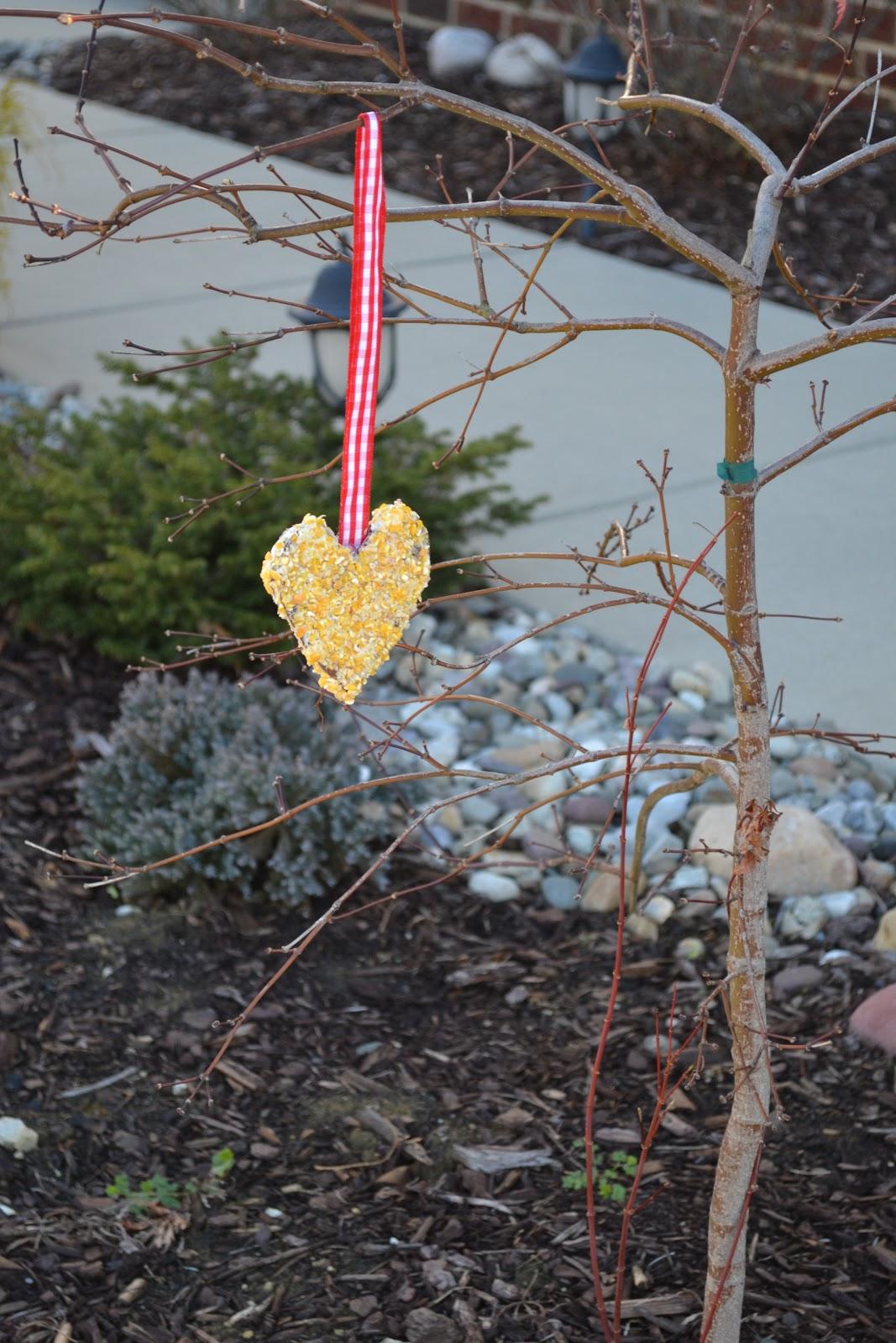 Etsykids valentine 39 s day is for the birds bird feeder for Bird seed glue recipe