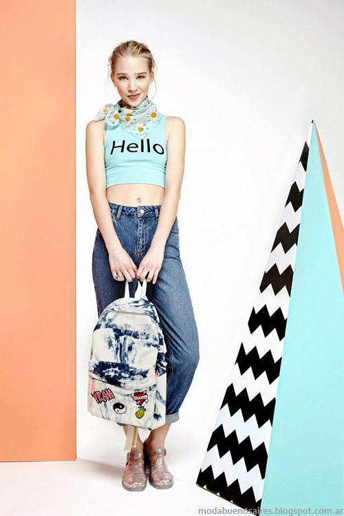 Tops y jeans primavera verano 2015, moda juvenil, Muaa 2015.