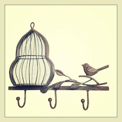 dekoratif duvar askısı, dekoratif kuş kafesi askılık