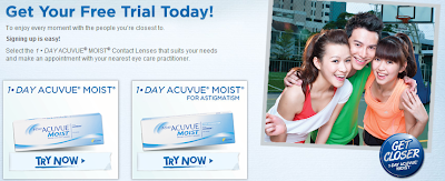 love freebies malaysia freebies 1 day acuvue moist contact