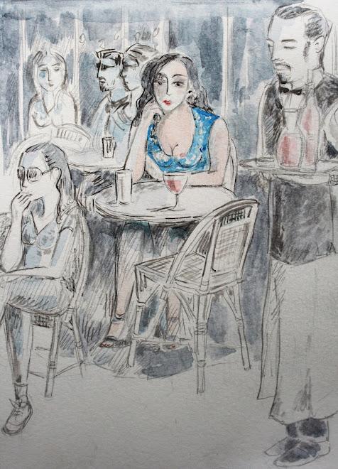 """"""" La terrasse parisienne, autoportrait"""