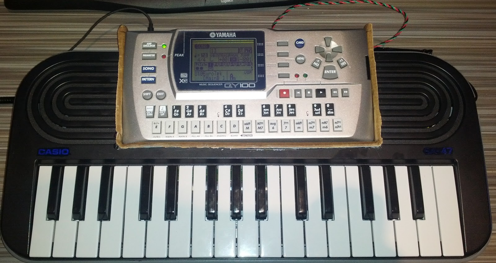 Code Tinker Hack How To Turn Piano Toy Into Midi Keyboard Using Yamaha Wiring Diagram Below Is Qy 100 Sound Module Fits Nicely