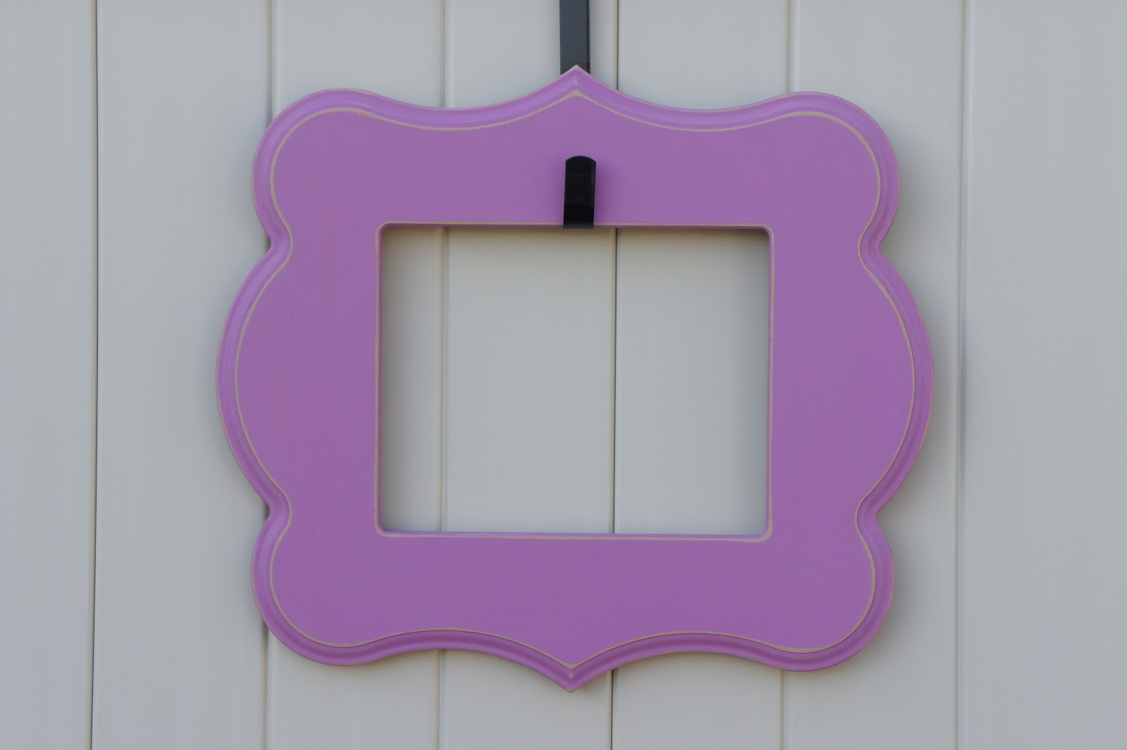 8x10 Rectangle Bracket With Scallop In Purple Stripe