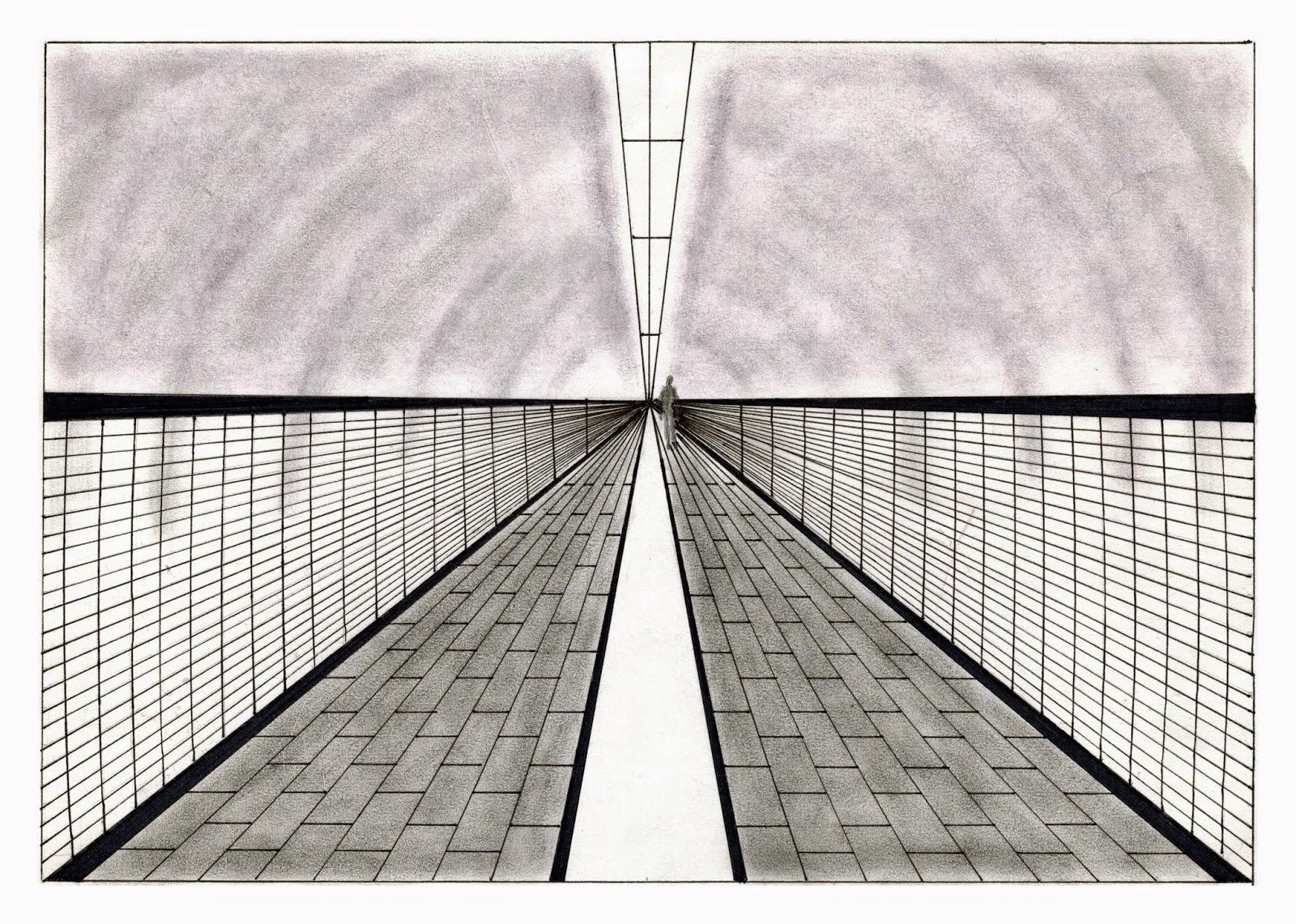 Kuiloa blog de dibujo perspectiva a un punto de fuga for Exterior un punto de fuga