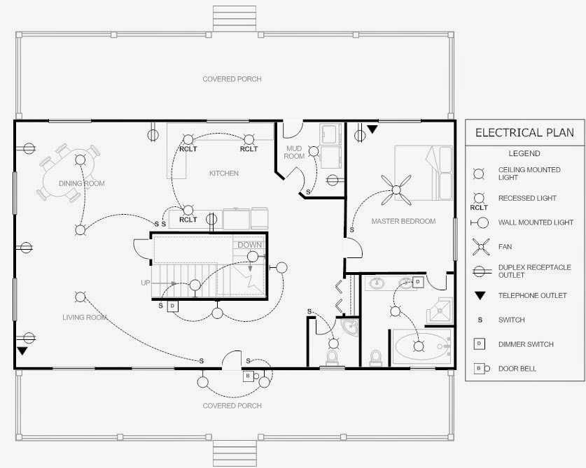 Example Of Wiring Diagram For House : Electrical engineering world house plan