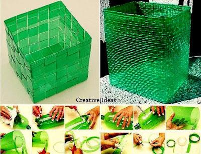Kreativiti Kitar Semula Botol Plastik