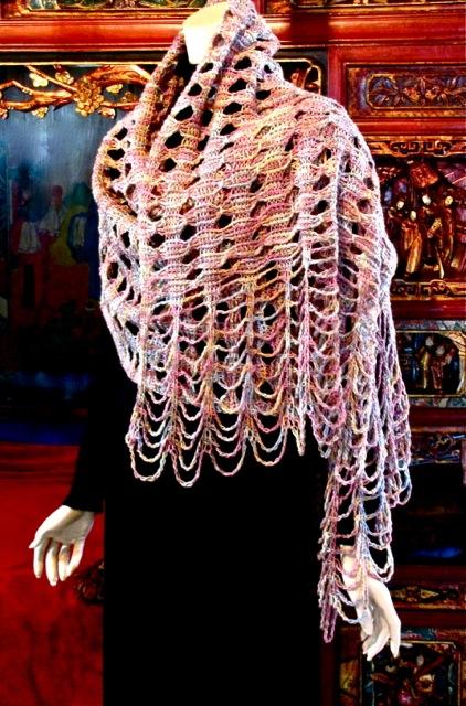 About That Rivuline Shawl Tunisian Crochet Stitch Pattern