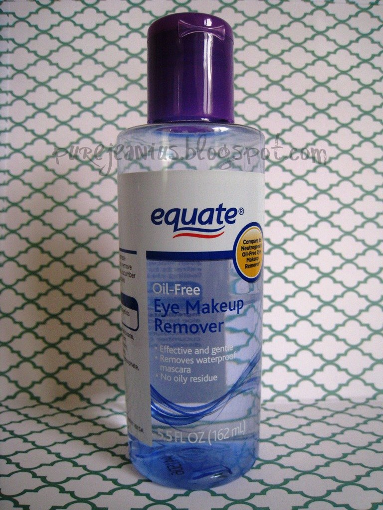 Equate Oil Free Eye Makeup Remover Pure Jeanius