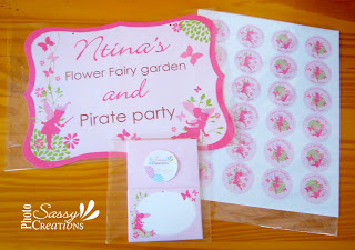 Fairy princees birthday party printables