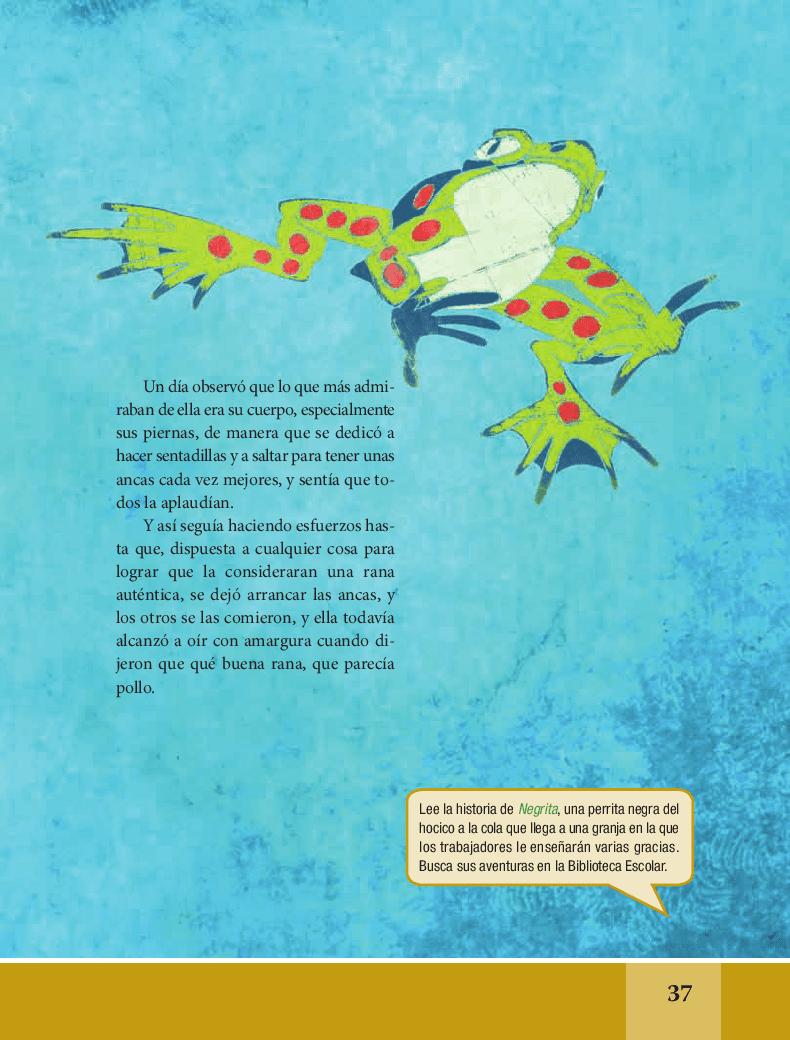 La rana que quería ser una rana auténtica - Español Lecturas 6to 2014-2015