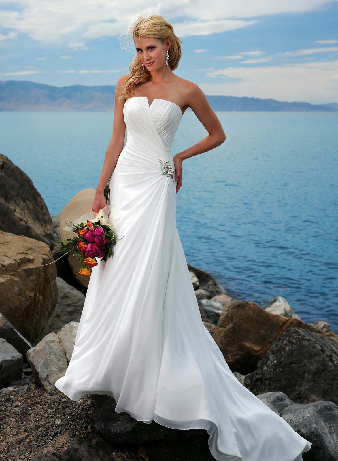 wedding dress styles for a hawaii wedding