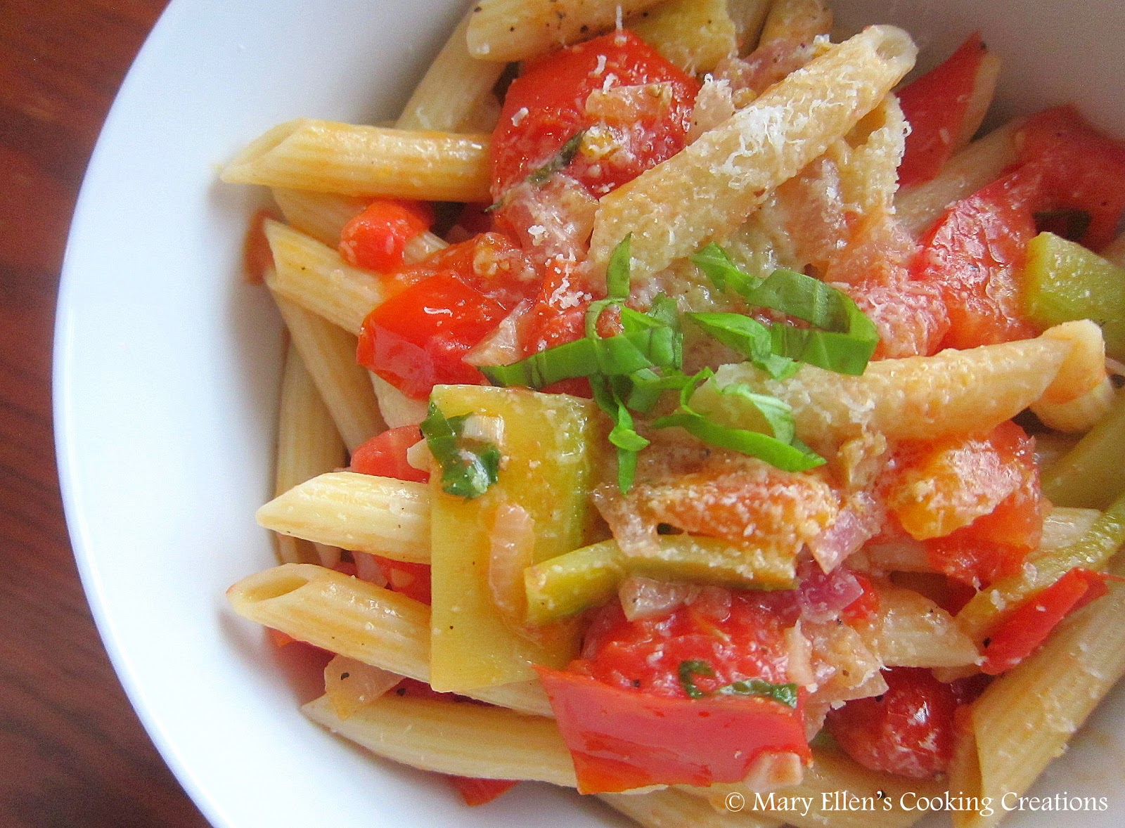 ... Cooking Creations: Light Summer Pasta with Tomatoes and Zucchini