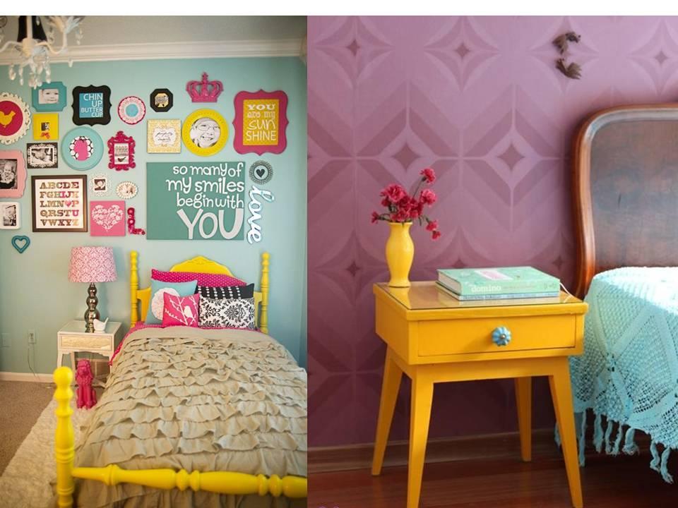 decoracao quarto azul turquesa e amarelo:pode combinar o amarelo, em determinados cômodos como no quarto e