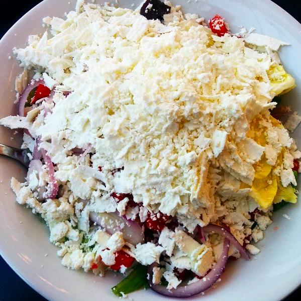 Salada de queijo búlgaro / Bulgarian cheese salad