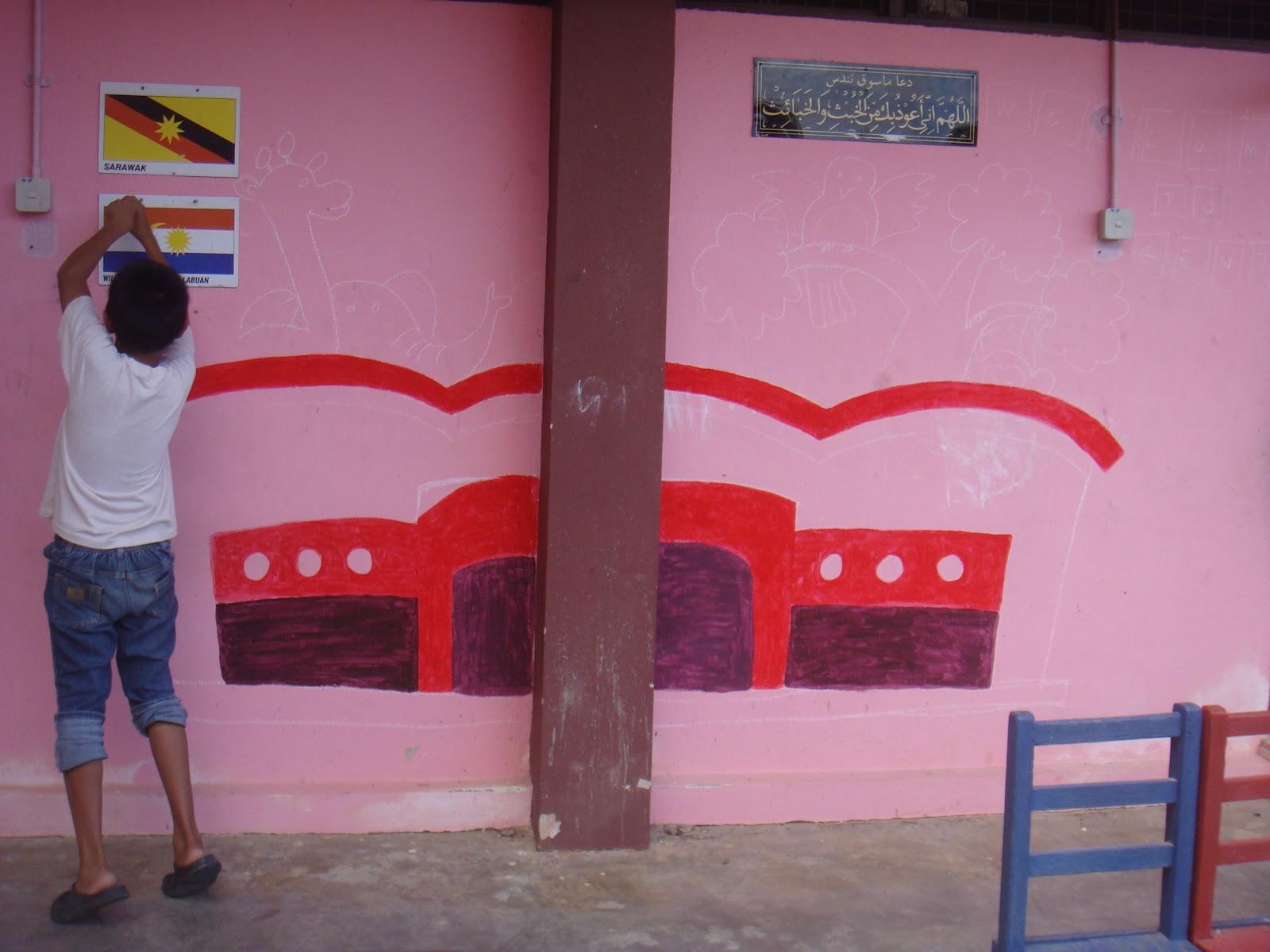 Mural sekolah dunia seni visual dan aku for Mural sekolah rendah