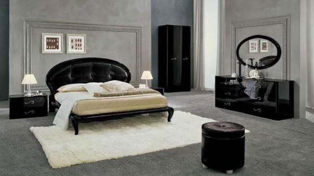 Couleur peinture chambre meuble noir id es d co pour for Photo peinture chambre