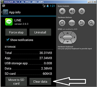 Logout in line android