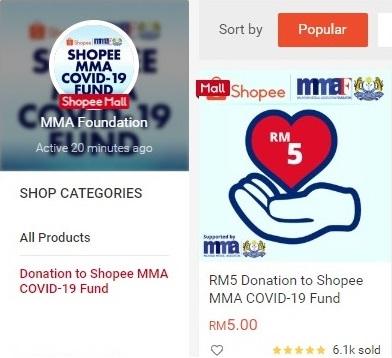 Shopee MMA Covid 19 Fund