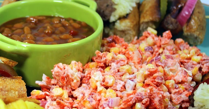 """Year on the Grill: Doritos """"Jacked"""" Spicy Chipotle BBQ Corn Salad - 52 Do Ahead Side Dishes"""