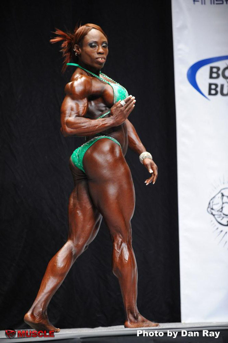 Victoria Dominguez Posing Her Shredded Physique At The 2012 NPC USA