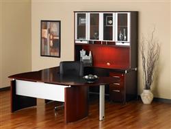 Napoli Modular Executive Desk by Mayline