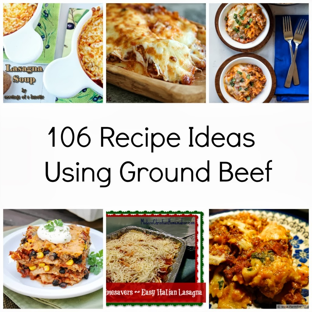 Recipe ideas recipe ideas using ground beef for Different meal ideas for ground beef