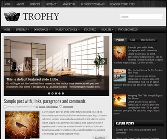 Trophy Blogger Template
