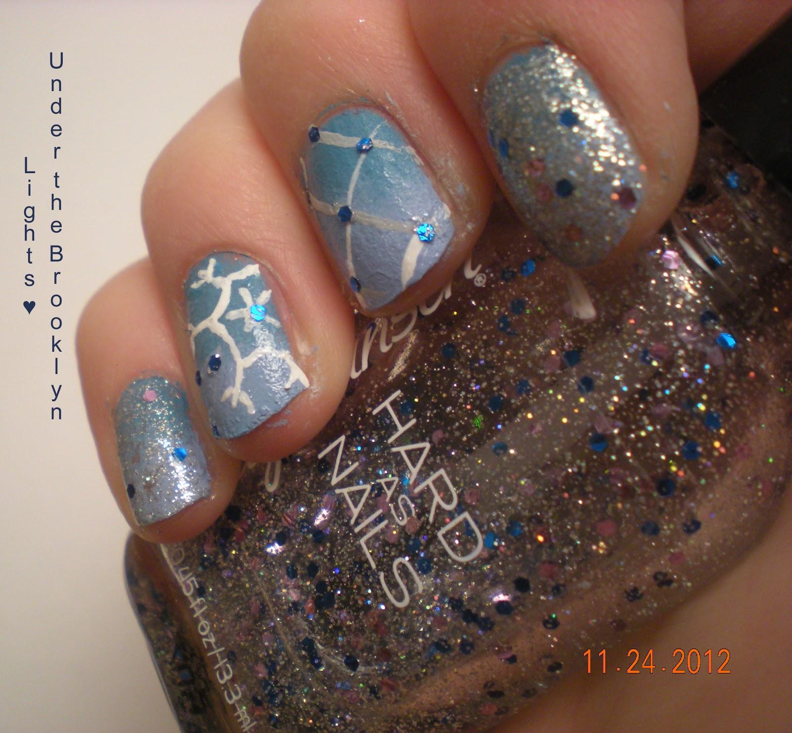 Snowflake Nail Art Tutorial: Under The Brooklyn Lights: Snowflake/Plaid Nail Art + Tutorial