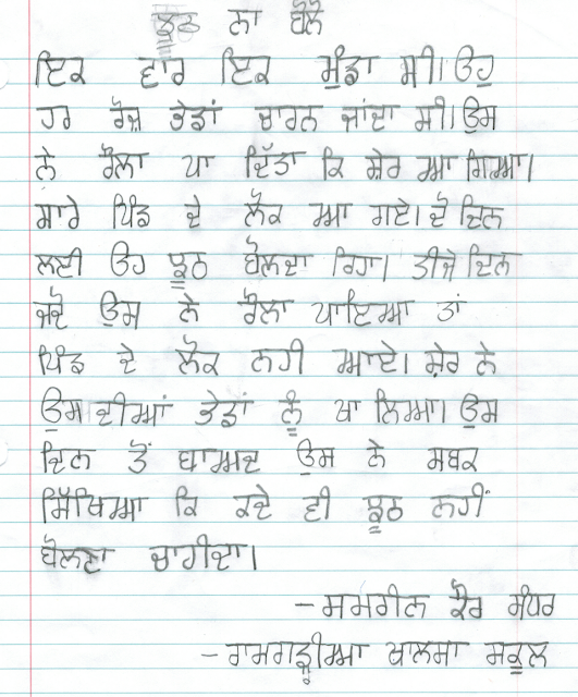 in punjabi language essays examples