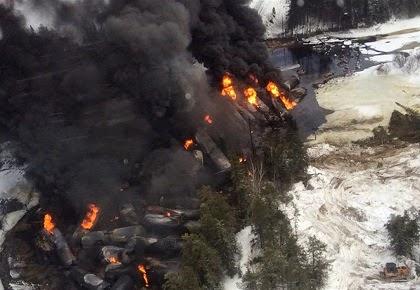 Saturday March 7 2015 - still burning Monday: Gogama Ontario.