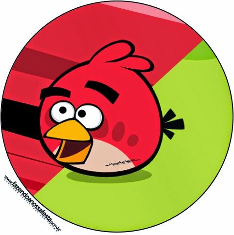 Toppers o etiquetas Angry Birds de para imprimir gratis.