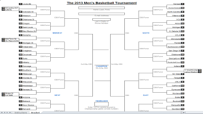 downloadable 2013 ncaa tournament bracket