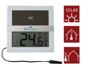 Jual Blue Gizmo ECO Solar Digital Thermometer BG-TS-100 Indoor-Outdoor