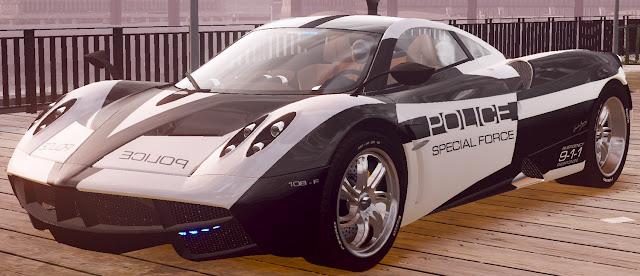 Change the police car into Pagani Huayra GTA 4 Police