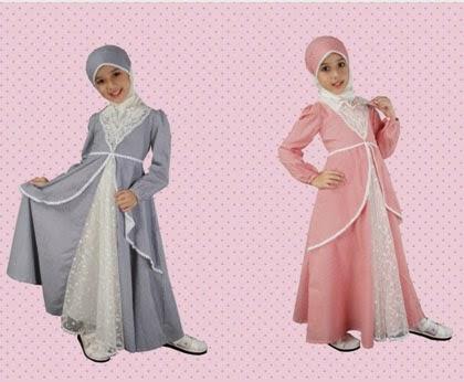 Model baju muslim modern anak perempuan terbaru