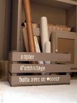 De chocolate frambuesa decorar con cajones de madera - Decorar cajas de madera con papel ...