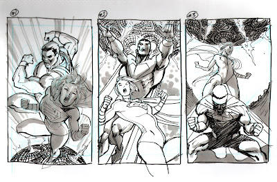WORLDS END cover process by Guilem March