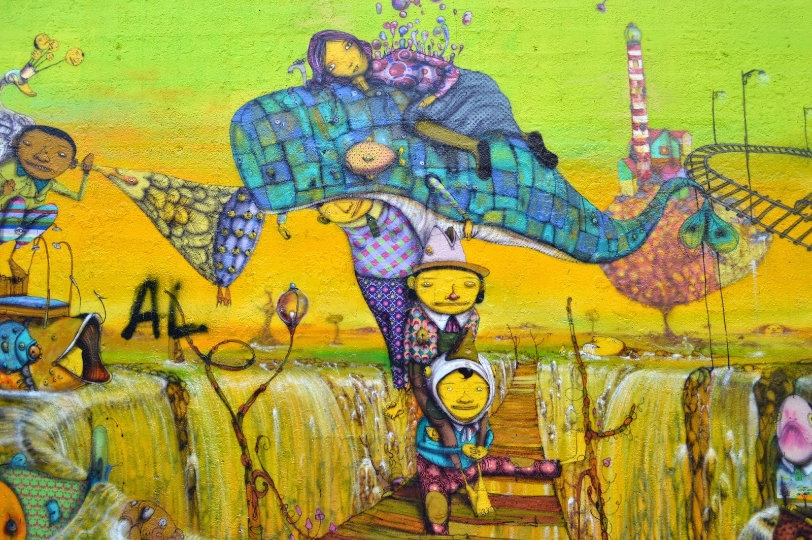 ART & FASHION SALON: OS GEMEOS Houston / Bowery Wall Unveiling ...