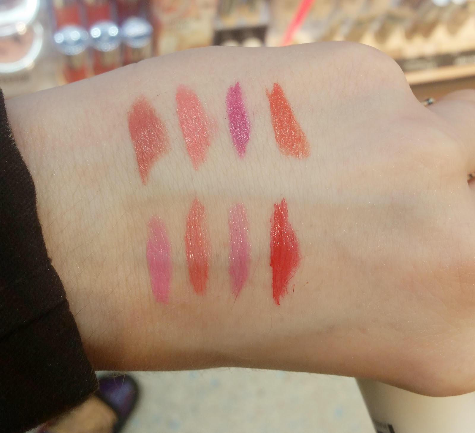 pure color lipstick/ sheer glam lipstick, Swatch
