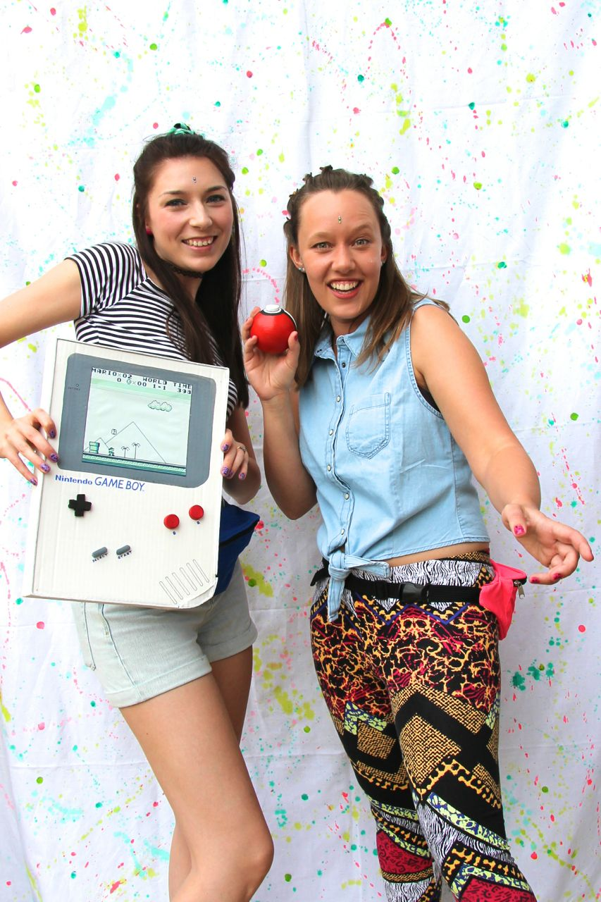 DIY gameboy pokeball Photo Booth