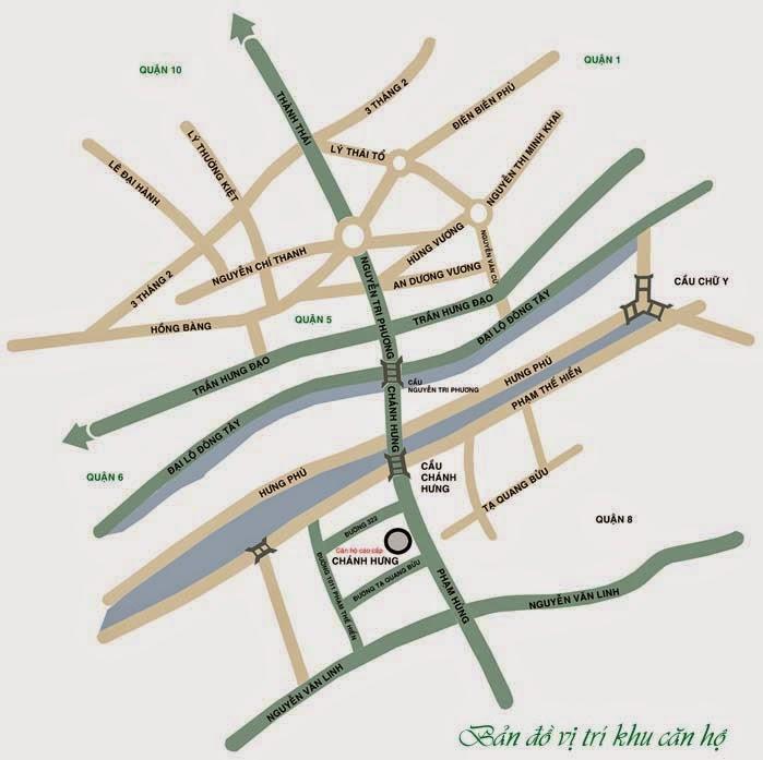 vị trí căn hộ samland quận 8