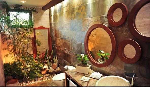 Baño De Tina Con Hierbas:Baños Modernos: ambientes decorativos