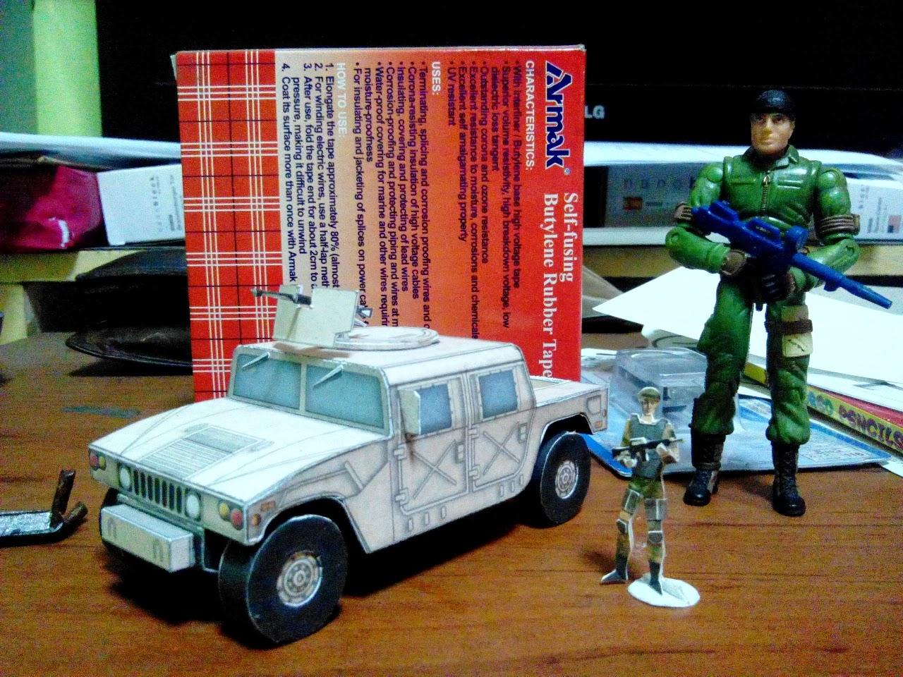 Humvee Paper Model