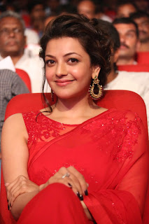 Kajal Agarwal Unbelievably Beautiful Red Saree at Govindudu Andarivadele audio launch