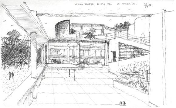 Croquis y dibujos de arquitecto el arquitecto ha muerto - Arquitecto le corbusier ...