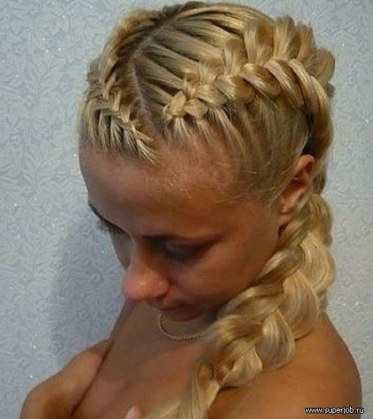 coiffure tresse russe